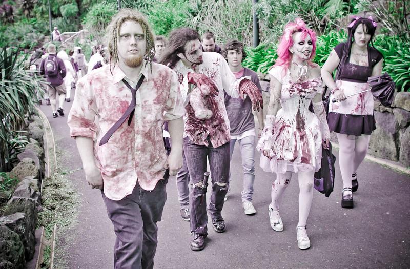 Zombies invade Alexandra Gardens