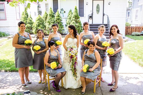 Nick and Nicole Wedding - Bride and Girls