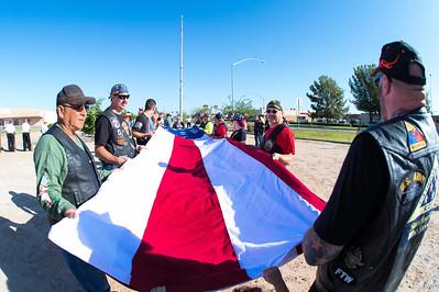 Veteran's Flag Raising, Yuma, AZ 23 Sep 17