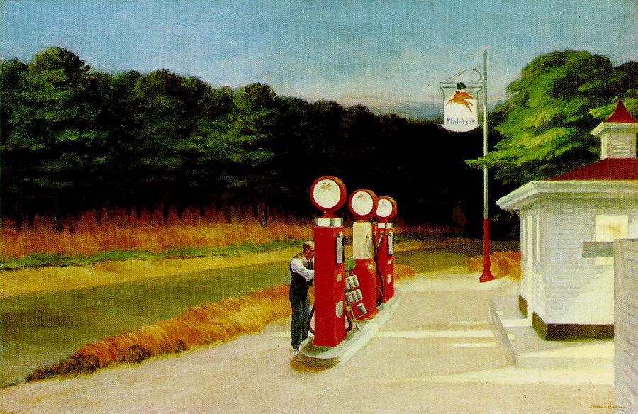 edward hopper GAS painting