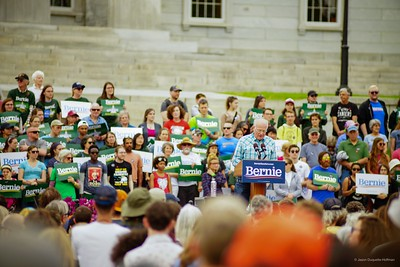 Memorial Day weekend Bernie rally at the Statehouse