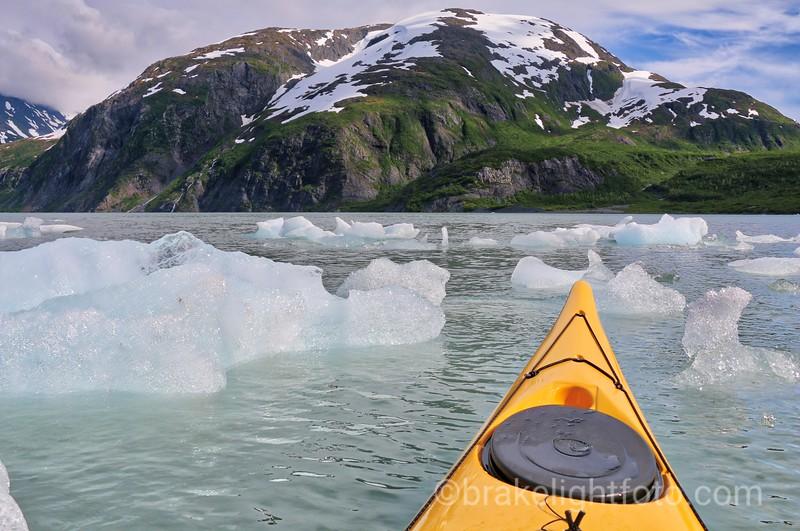 Ice Bergs on Portage Lake