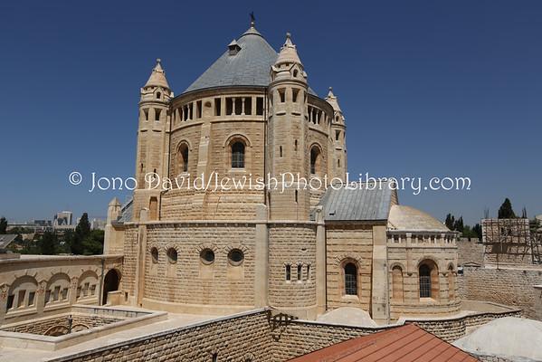ISRAEL, Jerusalem. Dormition Abbey, aka Abbey of the Dormition and Church of the Dormition (9.2014)
