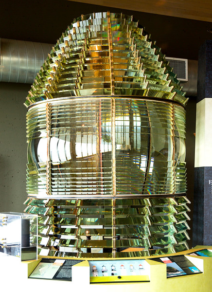 The first-order Fresnel lens from the lighthouse.   (See: http://www.uh.edu/engines/epi2867.htm )