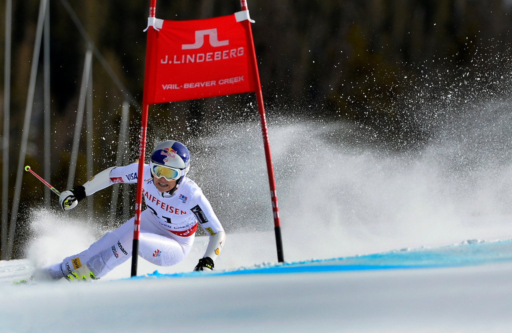 . BEAVER CREEK, CO - FEBRUARY 12: Lindsey Vonn of the United States competes in the second run of the Ladies Giant Slalom event at the FIS Alpine World Ski Championships in Beaver Creek, CO. February 12, 2015. (Photo By Helen H. Richardson/The Denver Post)