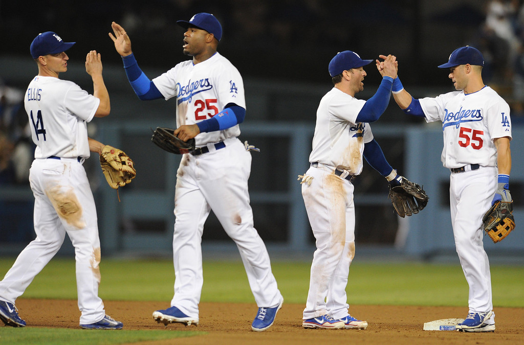 . The Dodgers defeated the New York Mets  4-2 in a game at Dodger Stadium in Los Angeles, CA. 8/13/2013(John McCoy/LA Daily News)