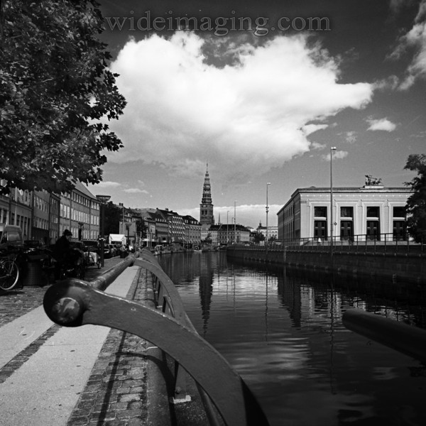 Canal view toward Christiansborg Palace, September 1, 2010.