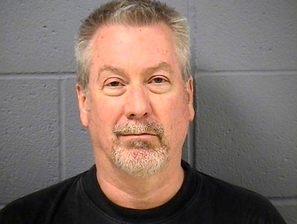 Description of . Former police sergeant Drew Peterson is pictured in this booking photograph released by the Will County Sheriff's Office on May 8, 2009. An Illinois jury found former Chicago-area police officer Drew Peterson guilty on September 6, 2012 of murdering his third wife, Kathleen Savio. Peterson was convicted of killing Savio in 2004 during a contentious divorce and then staging her death to look like an accident. Savio was found dead in a bathtub, and the death was initially ruled accidental. Suspicions were raised when Peterson's fourth wife, Stacy Peterson, disappeared in 2007.  REUTERS/Will County Sheriff's Office