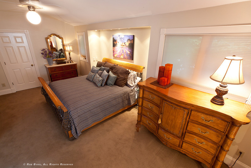 Spacious Master suite, his & her walk-in closets, spa-inspired his & her baths, adjoining sitting room.