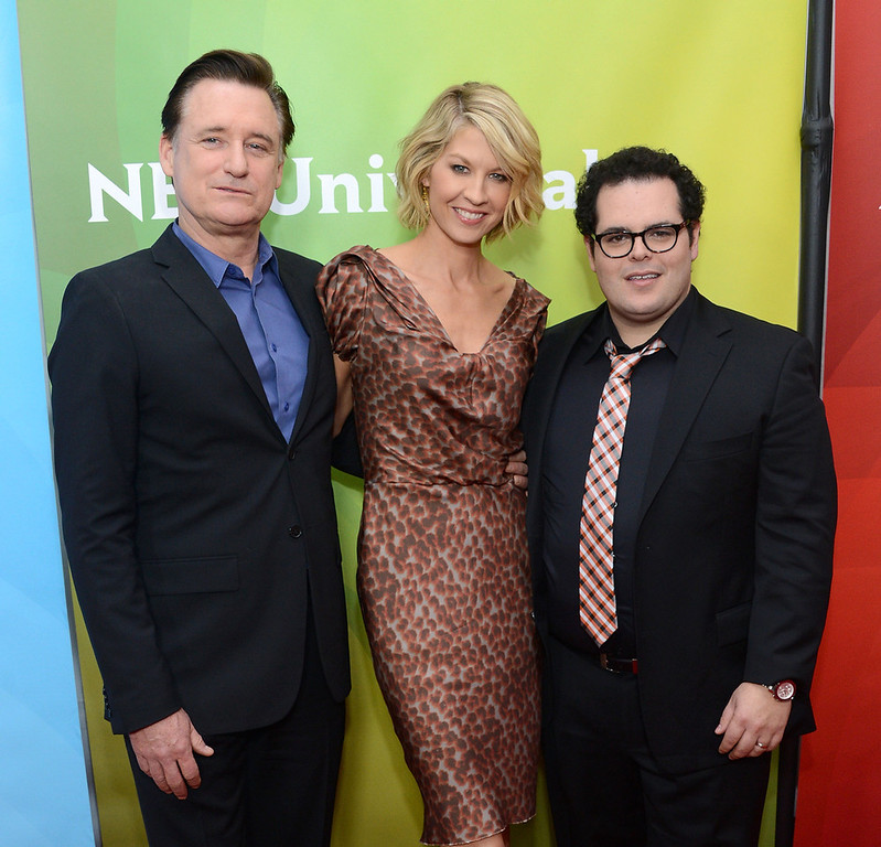 ". Bill Pullman, Jenna Elfman and Josh Gad attend NBCUniversal\'s ""2013 Winter TCA Tour\"" Day 1 at Langham Hotel on January 6, 2013 in Pasadena, California.  (Photo by Jason Kempin/Getty Images)"