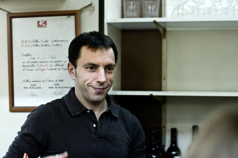 Bartender at Bilbao Tapas Bar. (Pentax K20D with FA 50mm 1.4 lens)