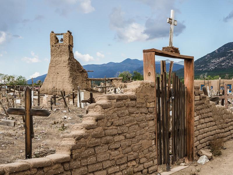 Scene from Taos Pueblo, Taos, New Mexico