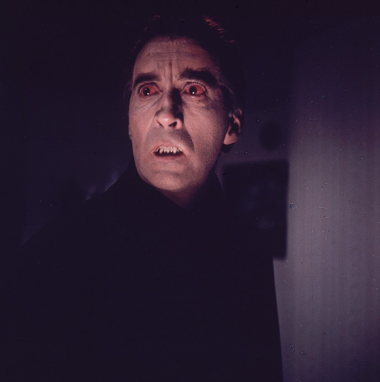 . 15th November 1963:  English actor Christopher Lee playing a vampire in one of the many horror films he has starred in.  (Photo by BIPS/Getty Images)