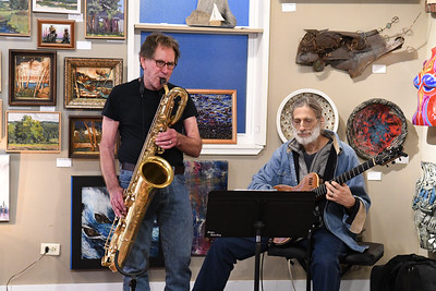 Bruce Johnstone and Frank Singer at Artlore Studio
