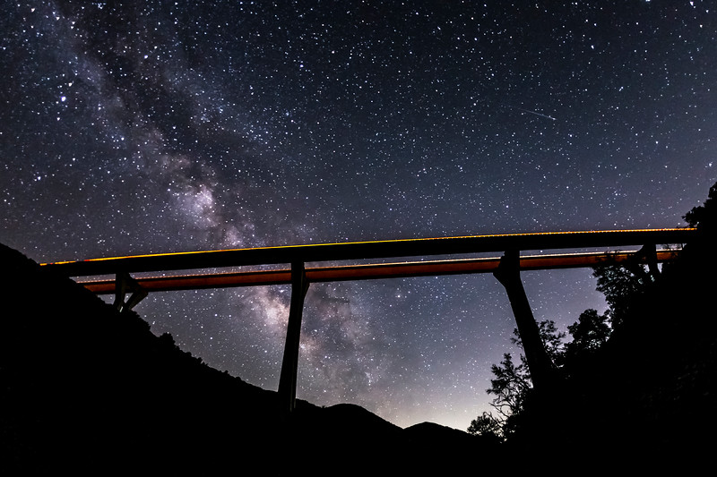 Pine Valley Creek Bridge and the Milky Way