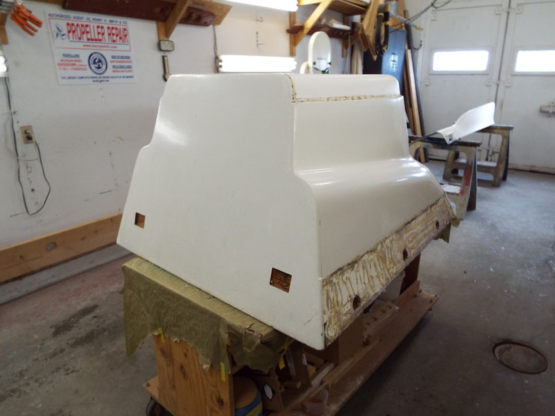 Starting to prep the old engine box so we can make a new fiberglass box that will be a lot lighter.