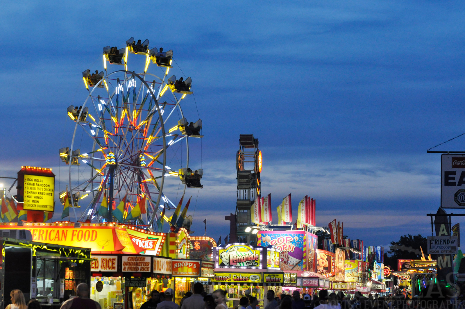 Fond du Lac County Fair in the evening.
