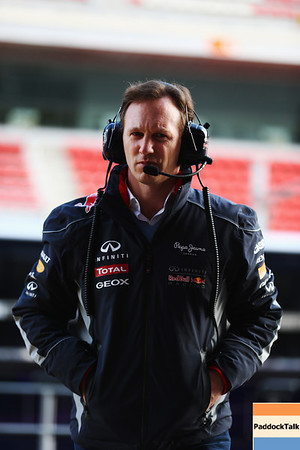 MONTMELO, SPAIN - FEBRUARY 20:  Infiniti Red Bull Racing Team Principal Christian Horner is seen during day two of Formula One winter test at the Circuit de Catalunya on February 20, 2013 in Montmelo, Spain.  (Photo by Paul Gilham/Getty Images)