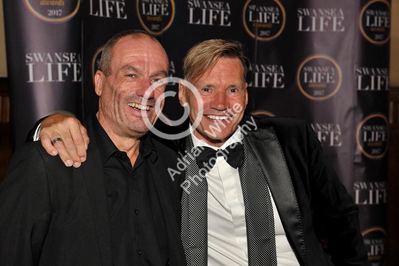 Swansea Life Awards 2017, Brangwyn Hall Paul Carter and Brian Brown