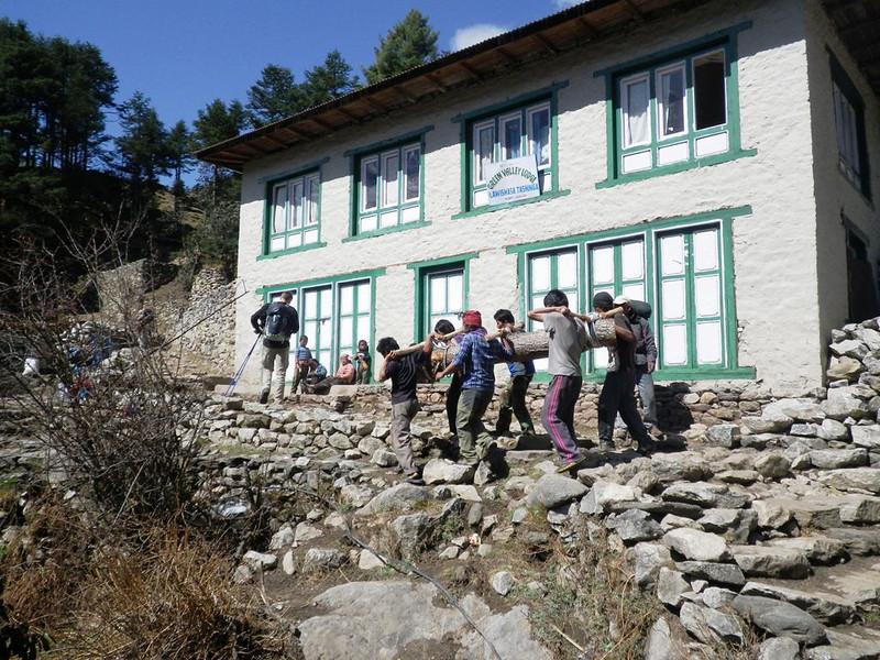 Again, no roads in Solu Khumbu Valley.
