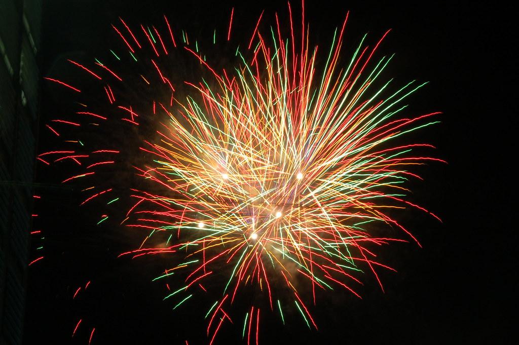Fireworks in summer.