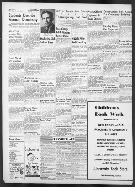 Daily Trojan, Vol. 42, No. 43, November 16, 1950