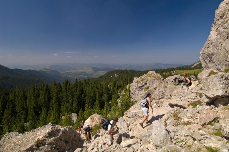 Hiking in Rarau Massif, Moldavia, Romania