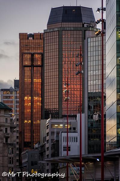 Queen Street at dusk Auckland
