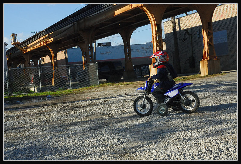 LJ racing me