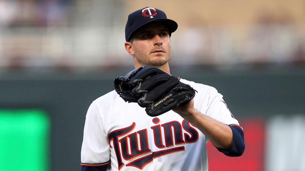 . Minnesota Twins pitcher Jake Odorizzi throws against the Cleveland Indians in a baseball game Thursday, May 31, 2018, in Minneapolis. (AP Photo/Jim Mone)