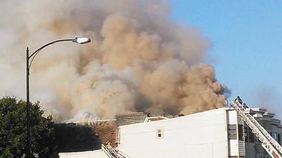 Fire Photos from Keith Yerusavage, East Centre Street, Mahanoy City (8-26-2014)