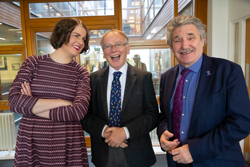 15/11/2019. FREE TO USE IMAGE. Pictured at the The official opening of the ArcLabs Research & Innovation Centre WIT extension, at Carriganore, Co Waterford. Pictured are Dr Aisling O'Neill, Manager at ArcLabs, Professor Willie Donnelly, President at Waterford Institute of Technology (WIT)  and John Halligan TD, Minister for Training, Skills, Innovation, Research and Development. Picture: Patrick Browne