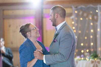 Reception Mother Son Dance- Christen & Jacob Manuele New England Rustic Wedding Photography- Westfield MA The Ranch Golf Club, St. Mary's Catholic Church- Bridal Photo Studio