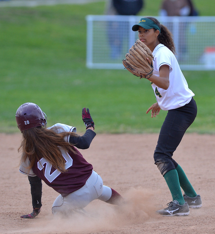 . 0517_SPT_TDB-L-MC-TORRANCE--- Torrance, CA--5/16/13--- Staff Photo: Robert Casillas  - Daily Breeze / LANG--- Mira Costa defeated Torrance High 7-1 in CIF DIV III softball playoff game at Wilson Park in Torrance.