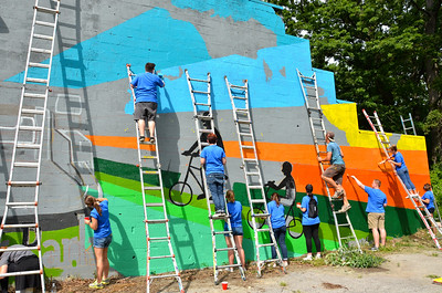 Palmer Park Mural Painting 7/28/17