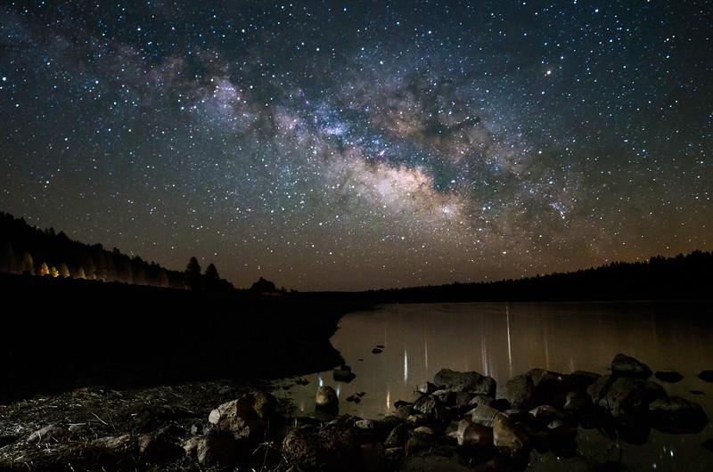Milky Way Over Lake Mary, Flagstaff
