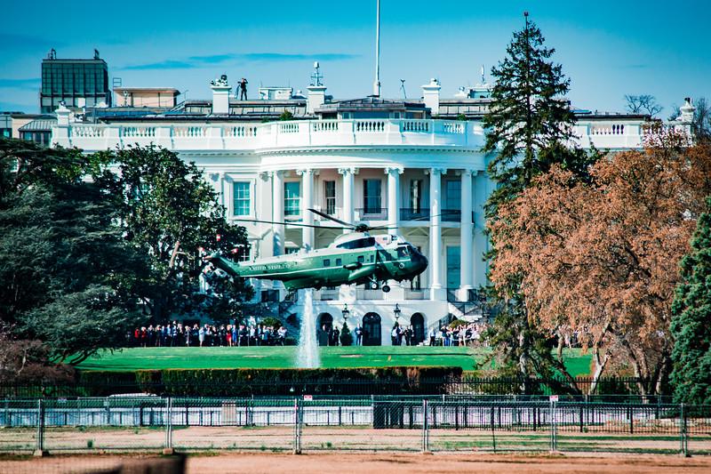 Marine One Leaving the White House - Washington DC