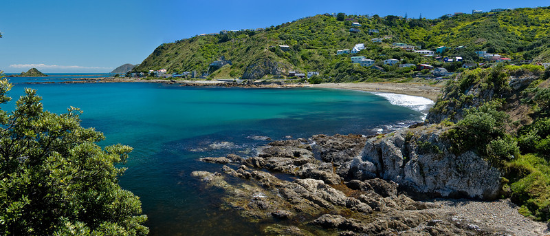 Panoramic stich of Houghton Bay, Wellington.