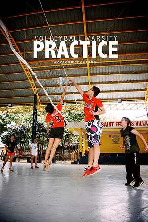 Varsity Volleyball Practice SY 2013-2014