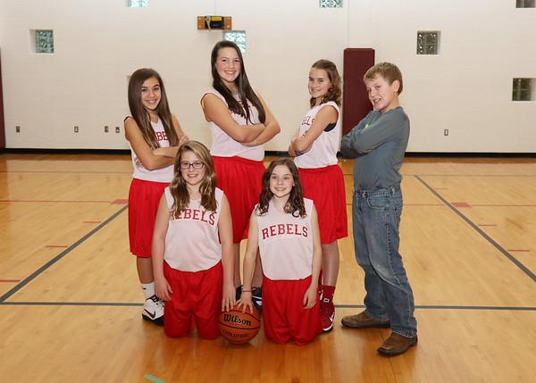 SNMS Girls Basketball Team 2015