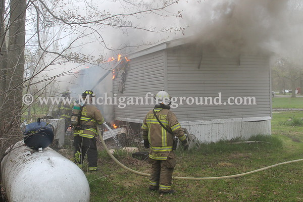 4/29/17 - Dansville mobile home fire, 1483 Decamp Rd
