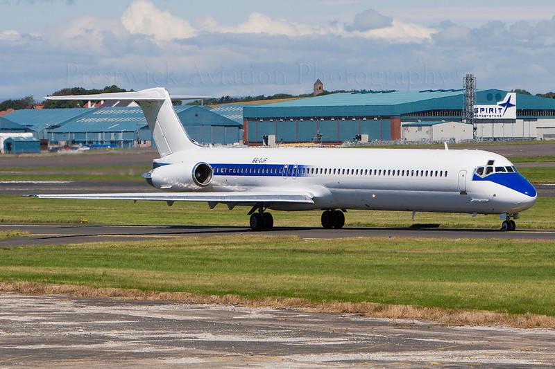 SE-DJF. McDonnell Douglas MD-83. Fly Excellent. Prestwick. 230707.