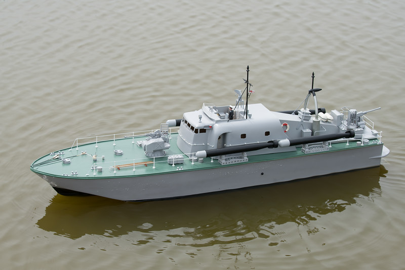 John Frost, Navy Day 2017, Perkasa, SRCMBC, Setley Pond, Solent Radio Control Model Boat Club, Vosper Thorneycraft Perkasa - Gas Turbine Patrol Boat