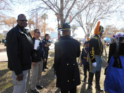 ARIZONA BUFFALO SOLDIERS, MESA, AZ. Phoenix Dr. Martin Luther King, Jr. Celebration, Phoenix, AZ. Official Centennial Buffalo Soldiers of the Arizona Territory - LGR.  January 20, 2014