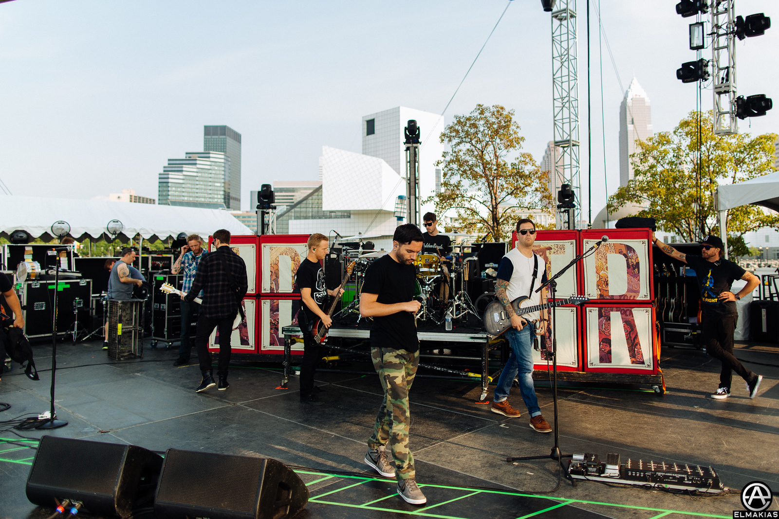 A Day To Remember rehearsing for the APMAs
