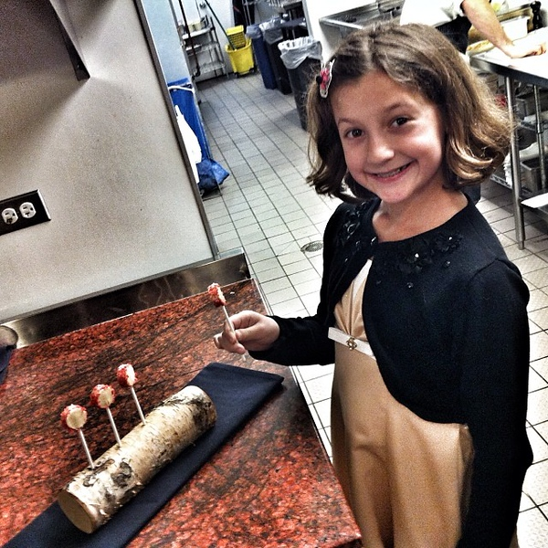 Enjoying a Foielipop in the kitchen at @grahamelliot