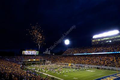 28593 WVU Band Fireworks Kansas St. October 2012