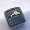 1.00ct Emerald Cut Diamond Solitaire, Platinum 6