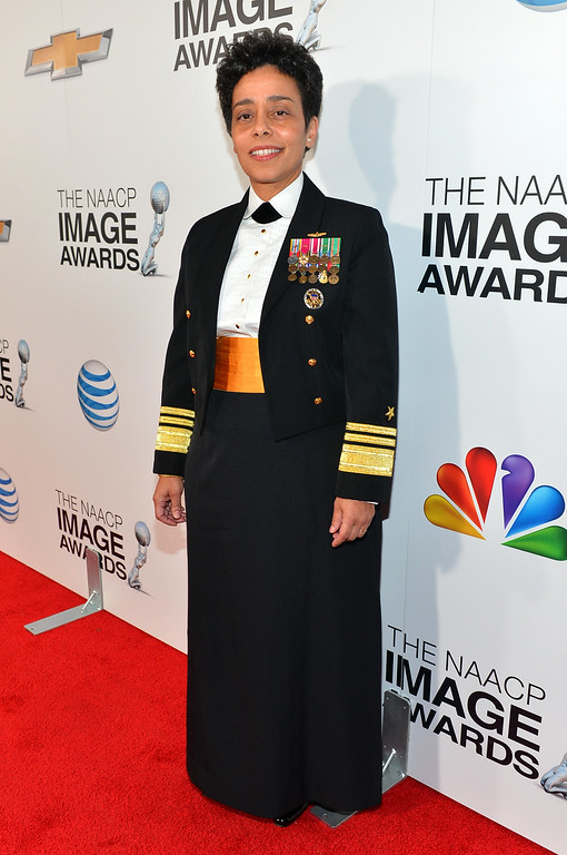. Chairman\'s Award honoree United States Navy Vice Admiral Michelle Janine Howard attends the 44th NAACP Image Awards at The Shrine Auditorium on February 1, 2013 in Los Angeles, California.  (Photo by Alberto E. Rodriguez/Getty Images for NAACP Image Awards)