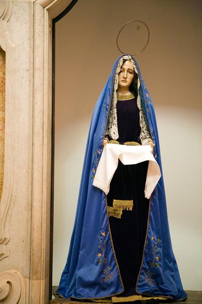 Statue of our Lady of Sorrows, Encarnaçao church, Lisbon